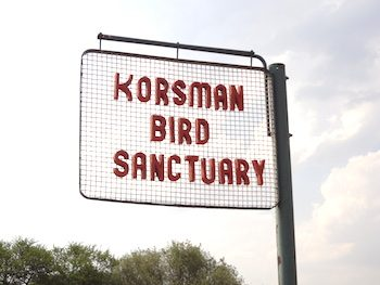 Korsman Bird Sanctuary sign
